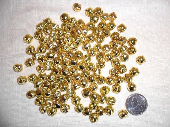 Jingle Bells Goldtone Steel 3/8 inch10 mm 130 Pieces