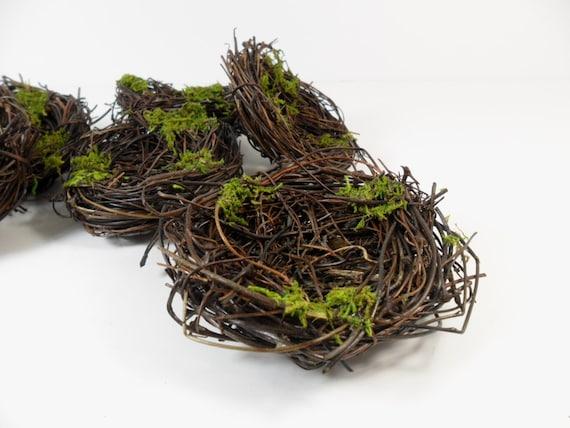 Bird Nest Green Moss 3 Inch Set of 6