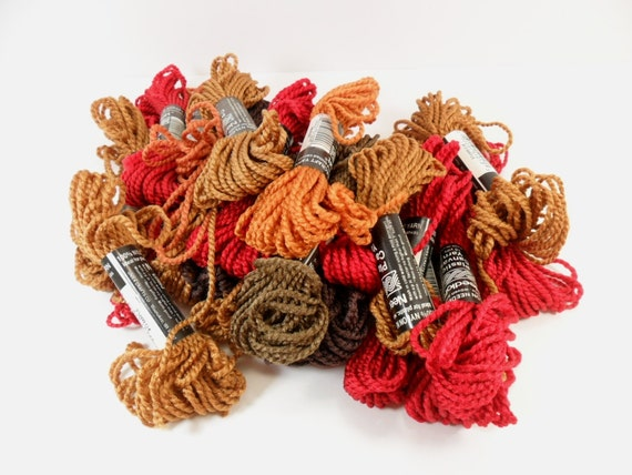 Yarn Plastic Canvas Yarn Mixed Fall Colors 21 Skeins 100% Nylon