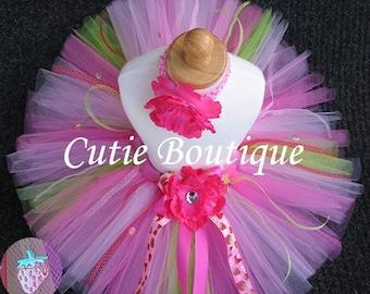 Custom------- Strawberry TUTU Headband Set ------- All Sizes 6 9 12 18 24 Months 2T 3T 4T 5T--------Birthday, Photo, Holidays, Dress Up