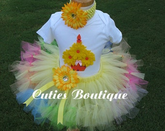 Yellow Rainbow Birthday CUPCAKE With Petti TUTU And 3D CUPCAKE Shirt -- All Sizes 6 9 12 18 24 Months 2T 3T 4T --- Birthday, Photo, Holidays