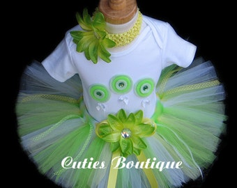 1st 2nd 3rd...Apple Green Birthday Outfit Set With 3D Lollipops -- All Sizes 6 9 12 18 24 Months 2T 3T 4T 5T----Birthday, Photo