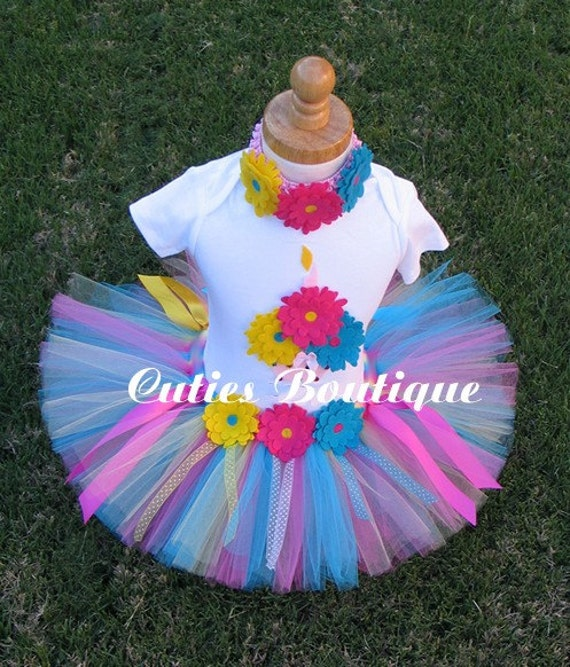 Rainbow Cupcake Birthday Set With TUTU And 3D CUPCAKE Shirt --- Sizes 6 9 12 18 24 Months 2T 3T 4T---- Birthday, Photo, Holidays, Dress Up