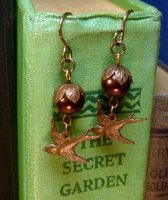 Steampunk Captain Lenora's vintage earrings E006