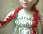 Dainty Red Ruffles Summer Scarf for My Twinn or American Girl Doll