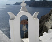 Fine Art Print - Photo of Santorini Greece Bell Tower 8 x 10