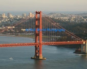 The Golden Gate Bridge and San Francisco Skyline Fine Art Photograph 11 x14