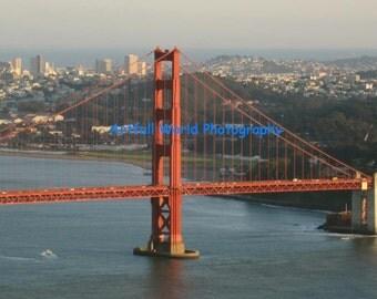 Golden Gate Bridge Picture, San Francisco Skyline Fine Art Photography,  11 x14 Art Print, San Francisco Bay, Bridge Wall Art, Home Decor