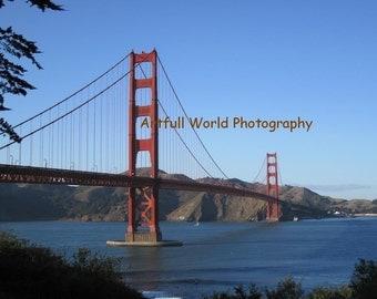 Golden Gate Bridge, Bay Area Surfers Picture, Fine Art Photograph 8x10