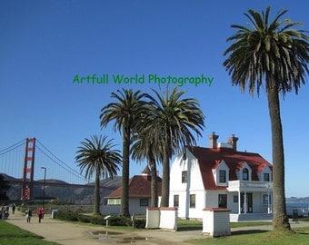 Photo of The Presidio, Golden Gate Bridge San Francisco California Original Photograph Poster Print 8 x 10