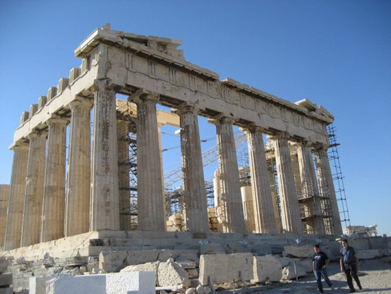 The Parthenon in the Acropolis in Athens, Greece Fine Art Print Photography 8 x 10