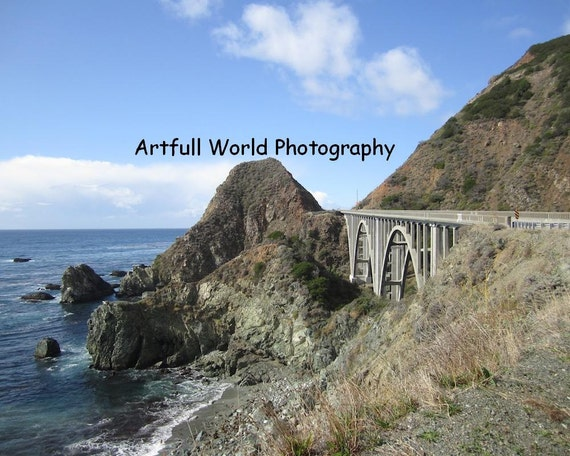 Big Creek Bridge, Original Photograph, Landscape 8 x 10, Big Sur, Central Coast