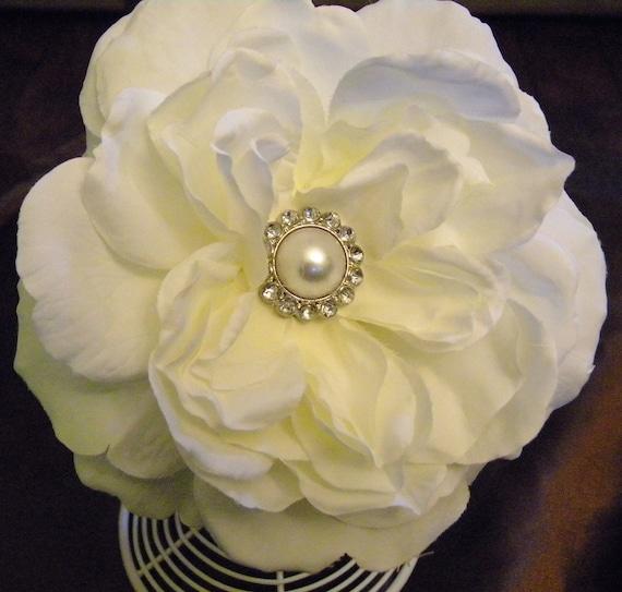 white flower headband, rose headband, large flower headband,flower girl headband, baptism headband, white flower headband, photo prop