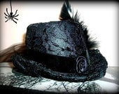 Dark as Night Mini Burlesque Top Hat