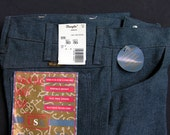 SALE: Heather Blue - NOS Wrangler Wrancher Regular Fit Boot Cut Stretch Dress Jeans 30x36