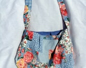 Patchwork Picnic Reversible Hobo Tote Bag