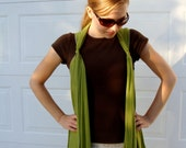 Gabrielle - Flowy Knit Vest - Olive Drab Green (Size Small)