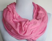 Infinity Scarf in Pink Knit Jersey