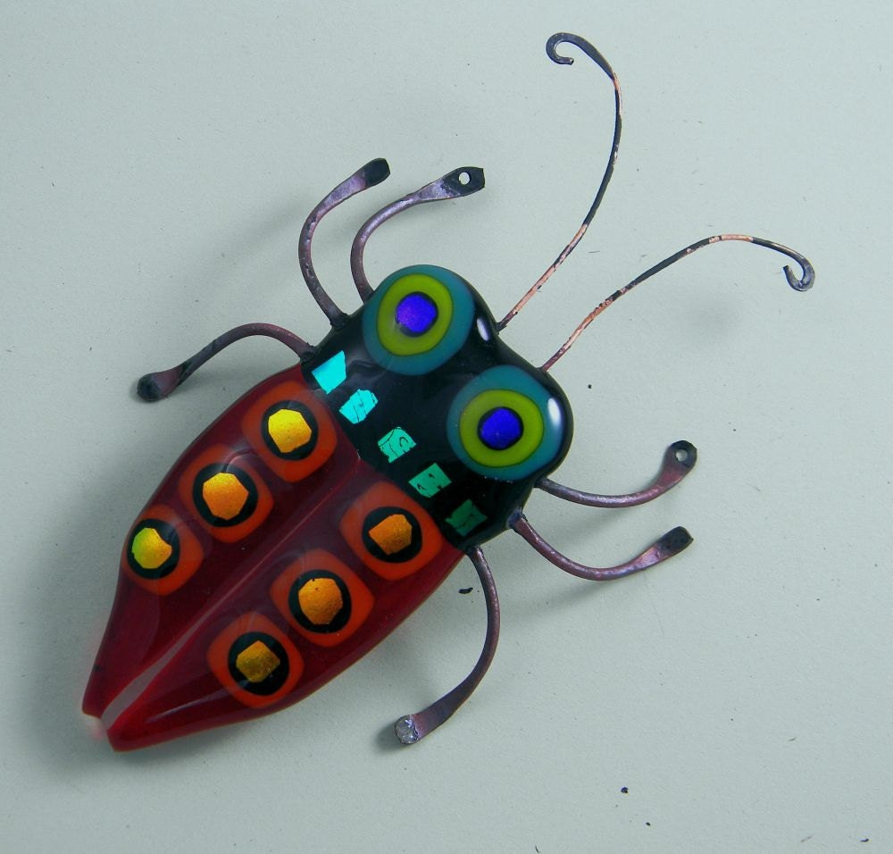 Fused Glass Garden Insects