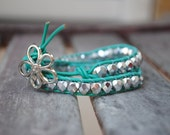A little bit of Whimsy Turquoise and Silver Wrap Bracelet