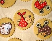 Simply Sweet Baby Shower Sugar Cookies