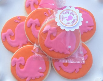 Under the Pink Sea Whale Sugar Cookies