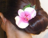 Orchid hair clip (available in assorted colors)
