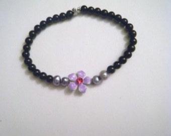 Keiki flower bracelet (purple/siam)