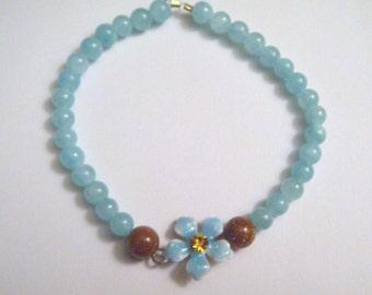 Keiki flower bracelet (turquoise/topaz)