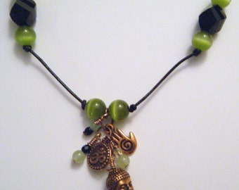 Buddha and OM charm necklace - available in 3 different colors