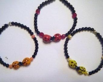 Honi honi ladybug bracelet