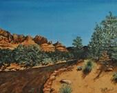 Apache Trail in Arizona - original painting by PWMorvant