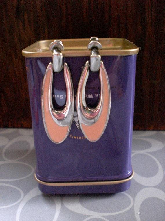 Peachy Drop Hoop Earrings