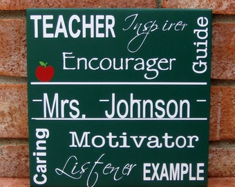 PERSONALIZED Teacher Appreciation Wood Sign