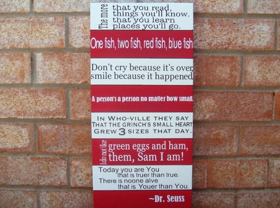 Dr. Seuss Wisdom Wood SIgn