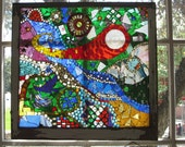 Antique Window Mosaic, OOAK