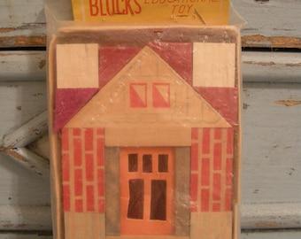 Vintage Wooden Building Blocks