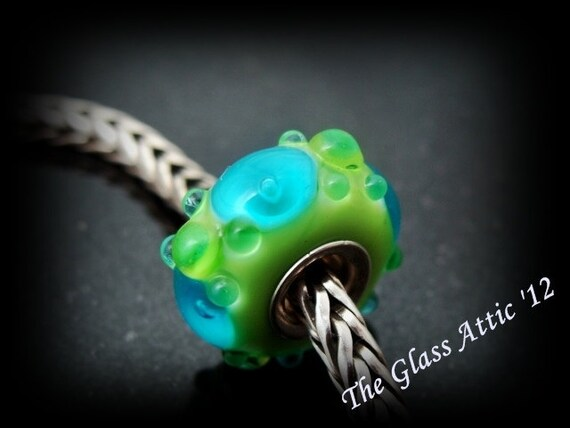 Pool Party fits Trollbeads Fully Cored Universal European Charm Bead BHB SRA