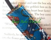 Cowboy boot fabric bookmark. Free Shipping in the USA