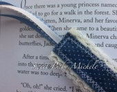 Blue dot Fabric and lace ribbon bookmark  Free Shipping To The USA
