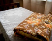 Large Brown Floral Bible Cover