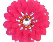 Hot Pink Penny Blossom Sparkly Flower Barrette (The Big Bang Theory)