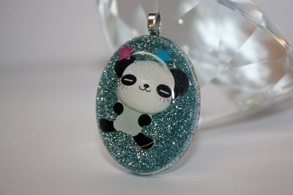 CLOSING SALE 50% off - Panda Resin Pendant - Aull About You