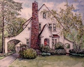 HOUSE PORTRAIT Original Custom Watercolor of Your Home or Building,House Painting, 5x7,8x10,11x14,Hand -Painted, Personalized Keepsake