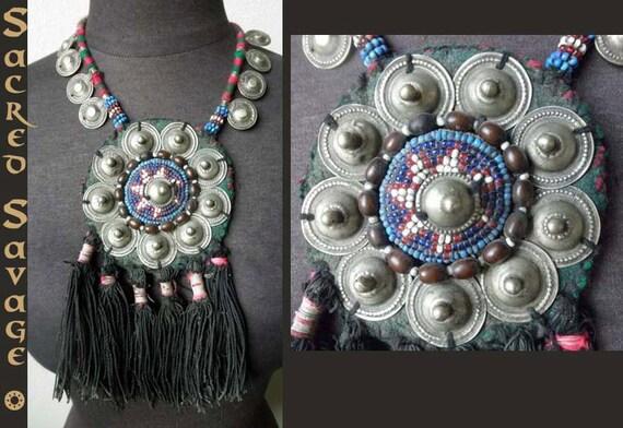 Rare Huge Antique Rajasthan Tribal Banjara HandCrafted Gypsy Necklace