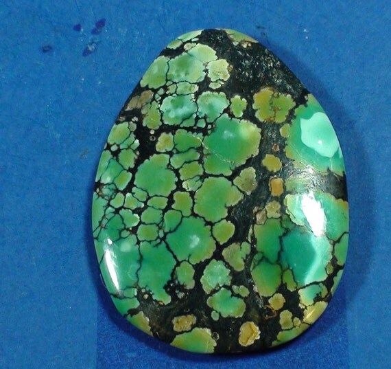 Blueish Green vein Turquoise (both side are polished)