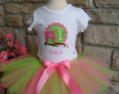 Look Whoo's One Birthday Tutu Outfit - Personalized Free - Any Number available