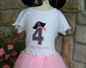 Light Pink Pettitu Girl Pirate Birthday Outfit