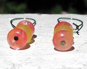 Pink And Yellow Earrings -- Raspberry Lemonade Candy Drops