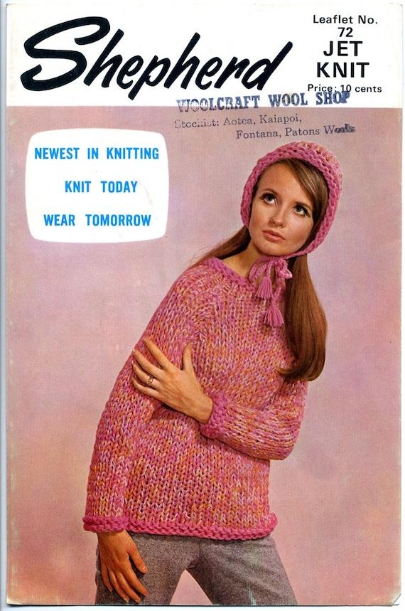 Knitting Pattern New Zealand : 2 Vintage 1970s New Zealand Knitting Patterns Shepherd